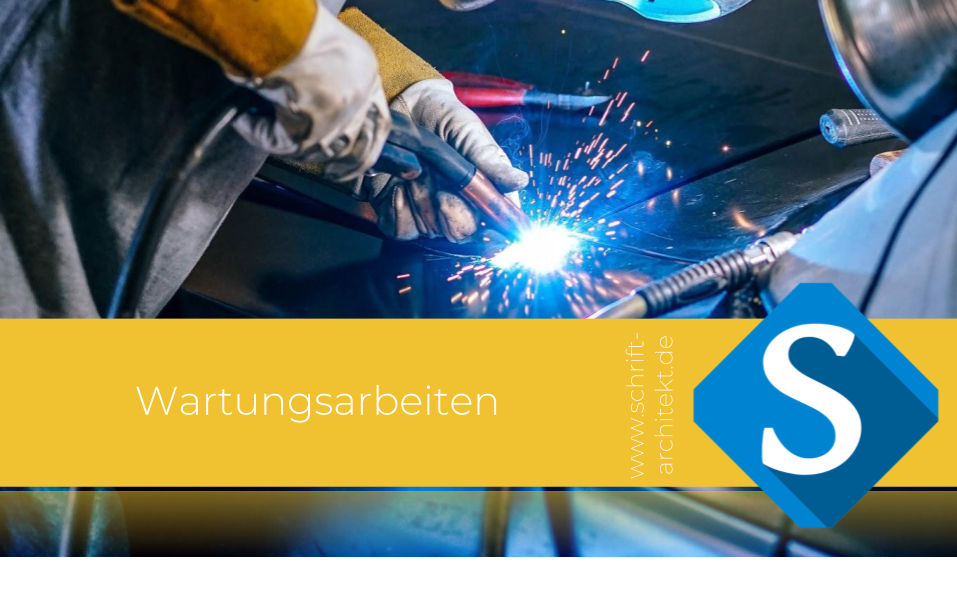 Agentur Schrift-Architekt.de Blogcover für Social Media, Seminare und Weiterbildung zum Thema Wartungsarbeiten