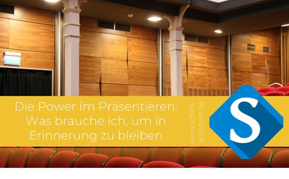 Agentur Schrift-Architekt.de für Beratung, Coaching und Weiterbildung - Blogcover zum Thema präsentieren