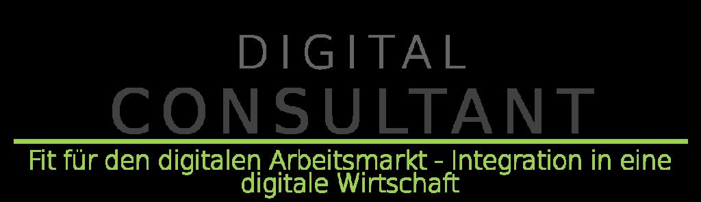Banner Kurs: Digital Consultant – Fit für den digitalen Arbeitsmarkt – Integration in eine digitalisierte Wirtschaft