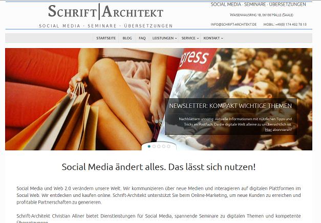 Das neue Layout von Schrift-Architekt.de