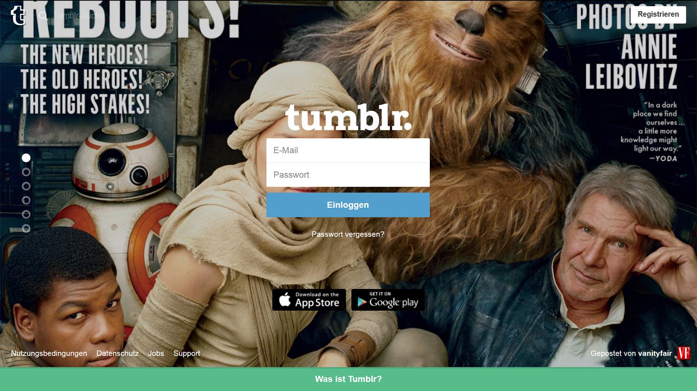 Es gab ein Erwachen der Macht: Star Wars und andere Marken sind bei Tumblr populär.