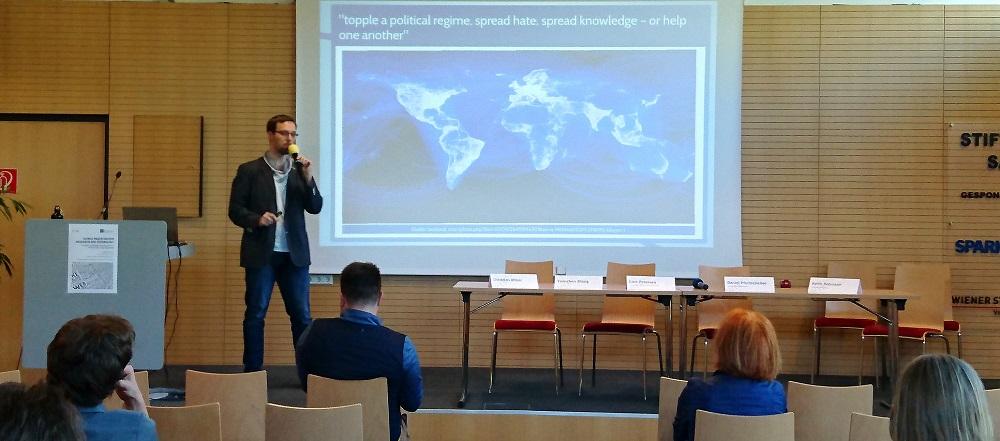 Christian Allner präsentiert auf der Global Mediatization and Research Conference in Klagenfurt am Wörthersee (2018)